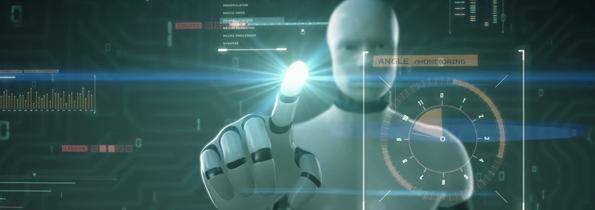 Robô Tocando na Tela